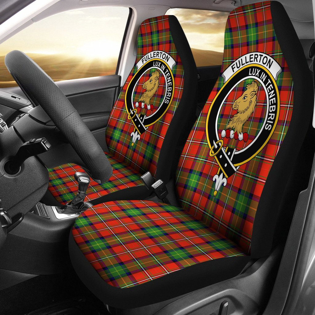fullertoni Clan Badge Tartan Car Seat Cover