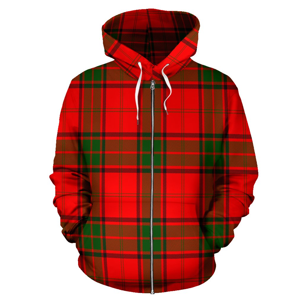Maxwell Modern Tartan All Over Zip Hoodie
