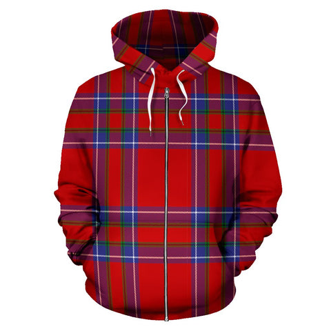 Image of Inverness District Tartan All Over Zip Hoodie