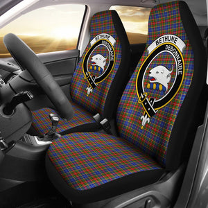 Bethune Clan Badge Tartan Car Seat Cover