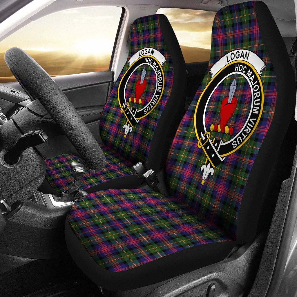 Logan Clan Badge Tartan Car Seat Cover