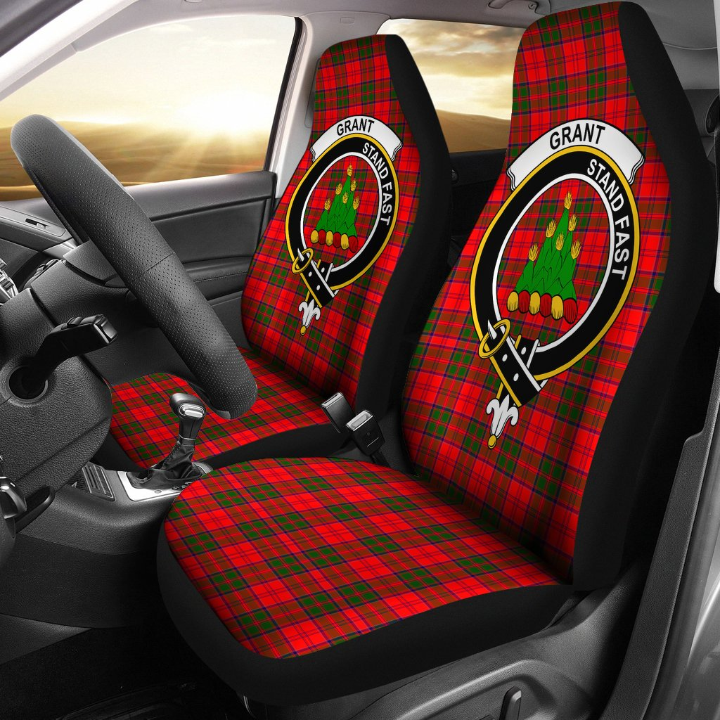Grant Clan Badge Tartan Car Seat Cover