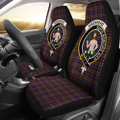 Image of Aikenhead Clan Badge Tartan Car Seat Cover