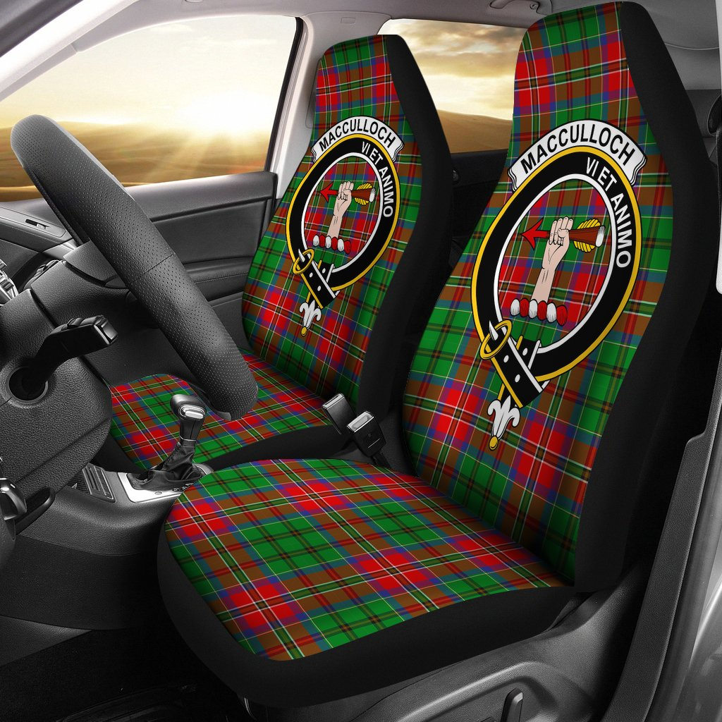 MacCulloch Clan Badge Tartan Car Seat Cover