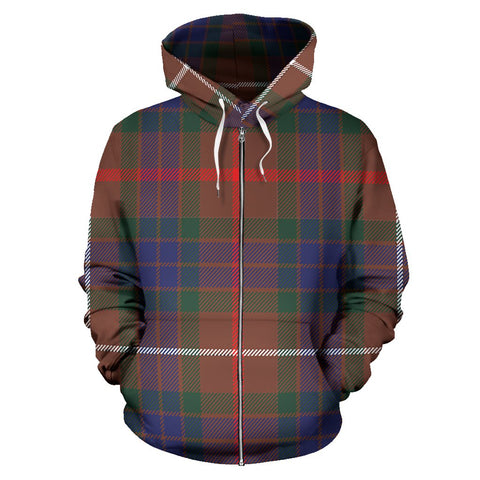 Fraser Hunting Modern Tartan All Over Zip Hoodie
