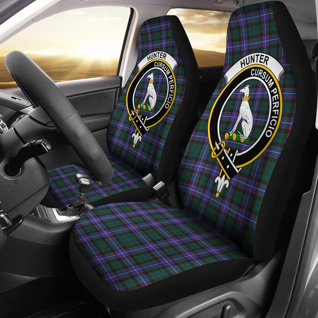 Hunter Clan Badge Tartan Car Seat Cover