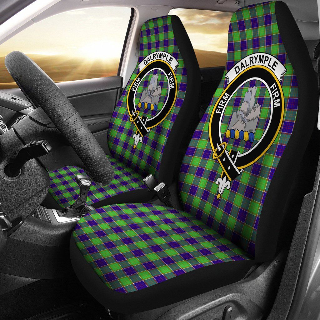 Dalrymple Clan Badge Tartan Car Seat Cover