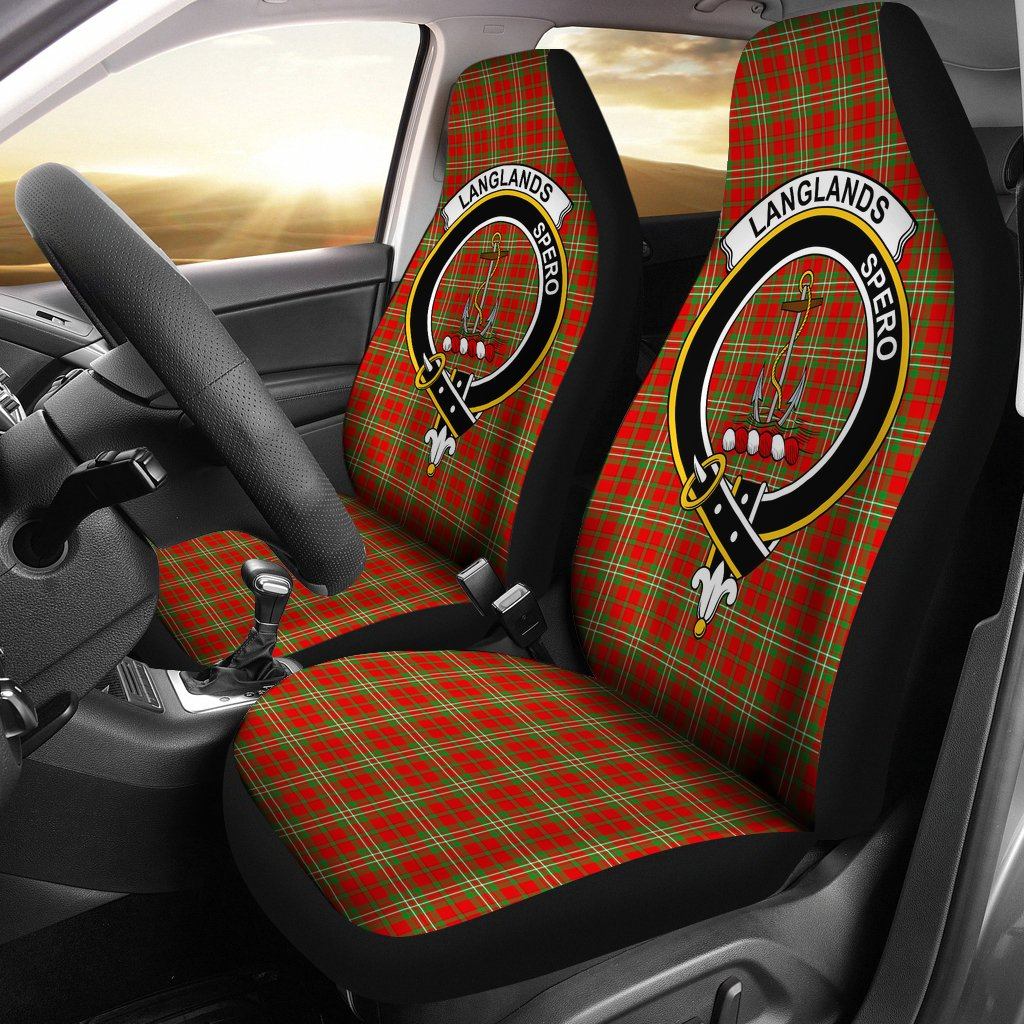 Langlands Clan Badge Tartan Car Seat Cover