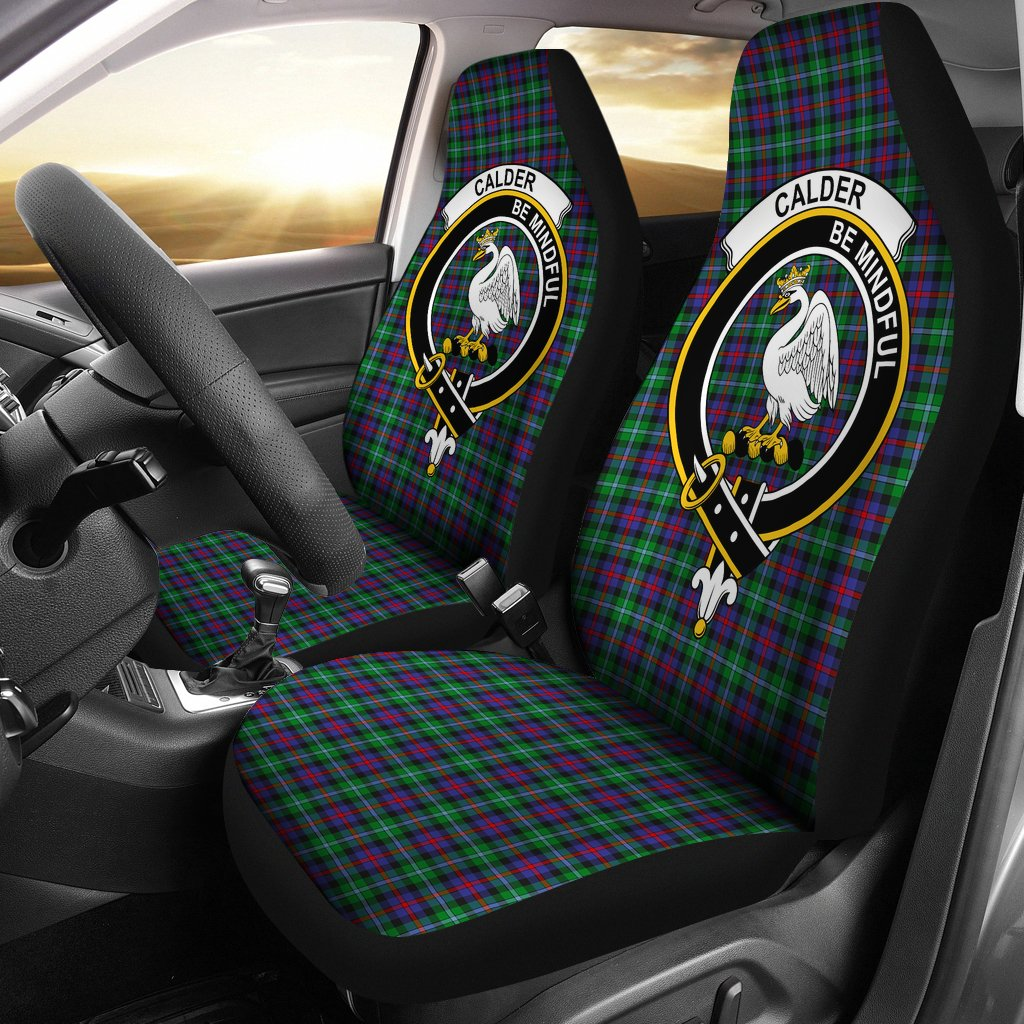 Calder Clan Badge Tartan Car Seat Cover