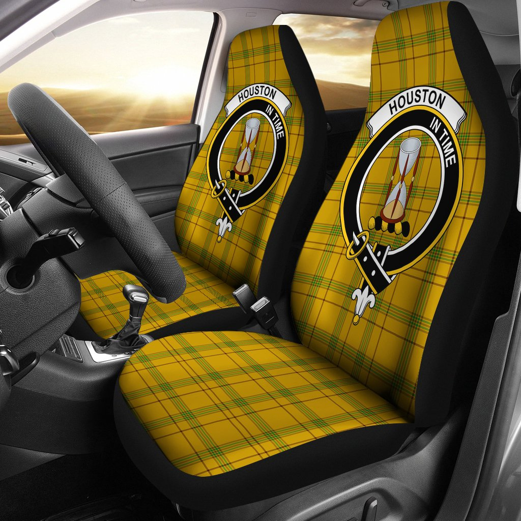 Houston Clan Badge Tartan Car Seat Cover