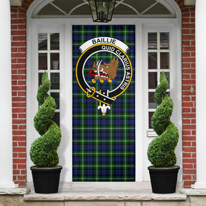 Baillie Modern Clan Badge Tartan Door Sock H01