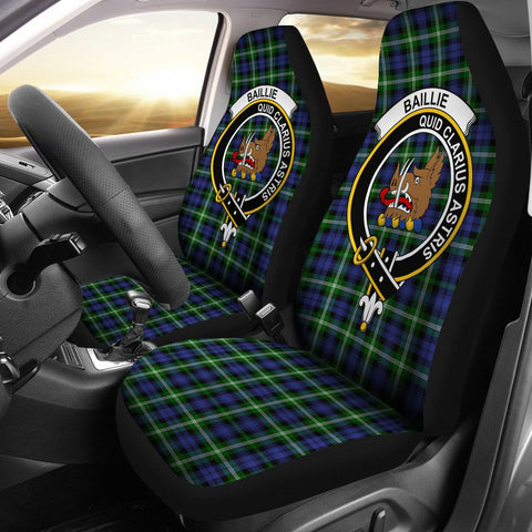 Baillie  Clan Badge Tartan Car Seat Cover