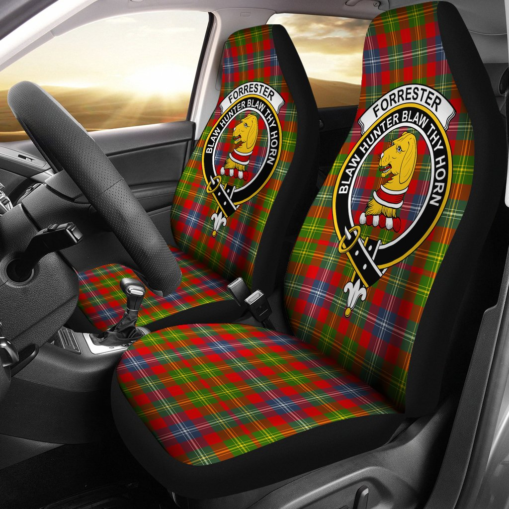 Forrester Clan Badge Tartan Car Seat Cover