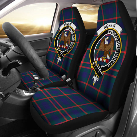 Image of Agnew  Clan Badge Tartan Car Seat Cover
