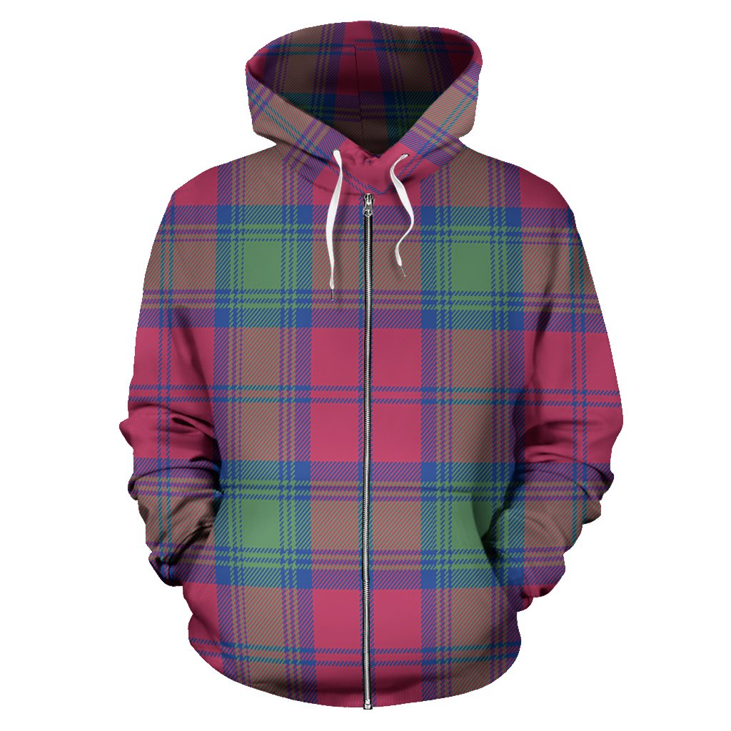 Lindsay Ancient Tartan All Over Zip Hoodie