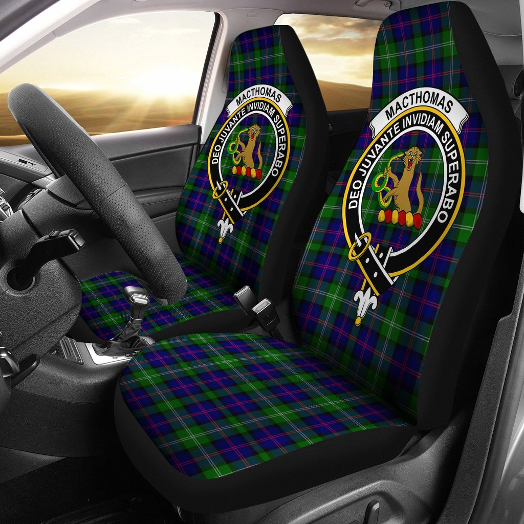 MacThomas Clan Badge Tartan Car Seat Cover