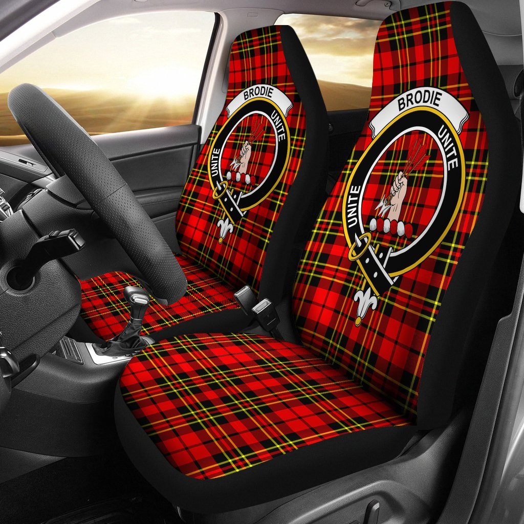 Brodie  Clan Badge Tartan Car Seat Cover