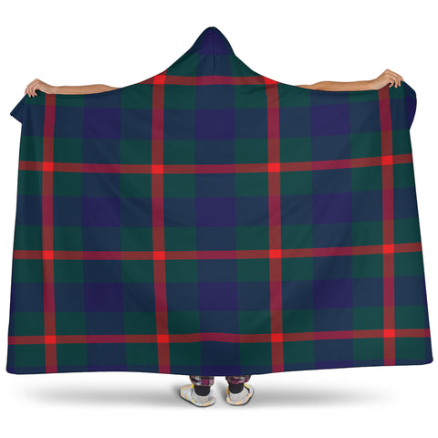 Image of Agnew Modern Tartan Hooded Blanket H01