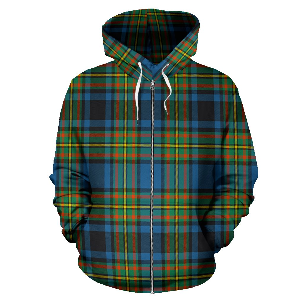 Gillies Ancient Tartan All Over Zip Hoodie