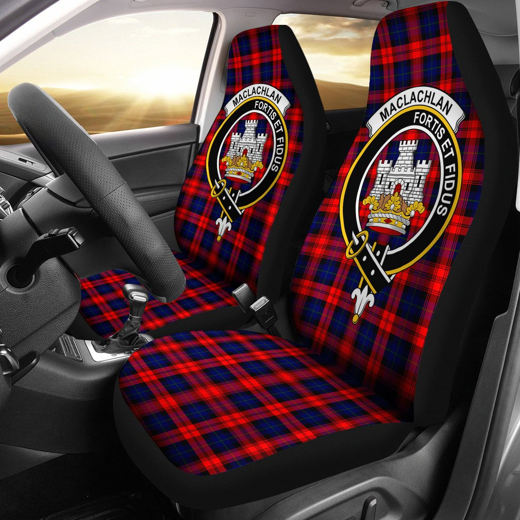 MacLachlan Clan Badge Tartan Car Seat Cover
