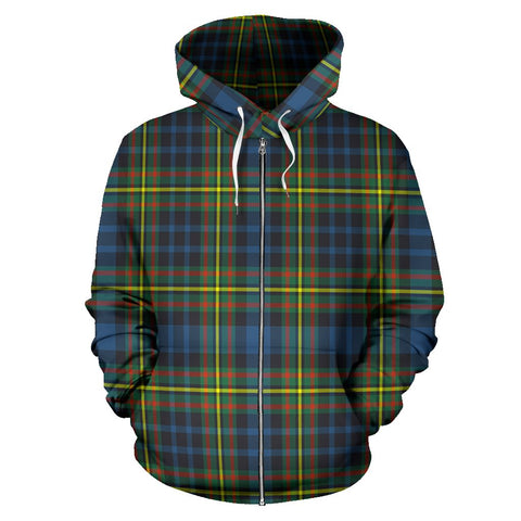 Image of MacLellan Ancient Tartan All Over Zip Hoodie