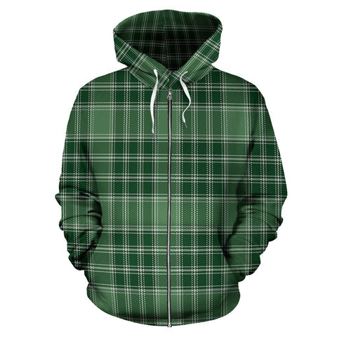 Image of MacDonald Lord of the Isles Hunting Tartan All Over Zip Hoodie