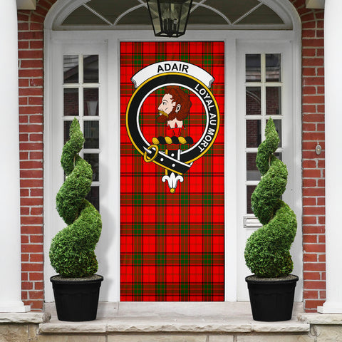 Adair Clan Badge Tartan Door Sock H01