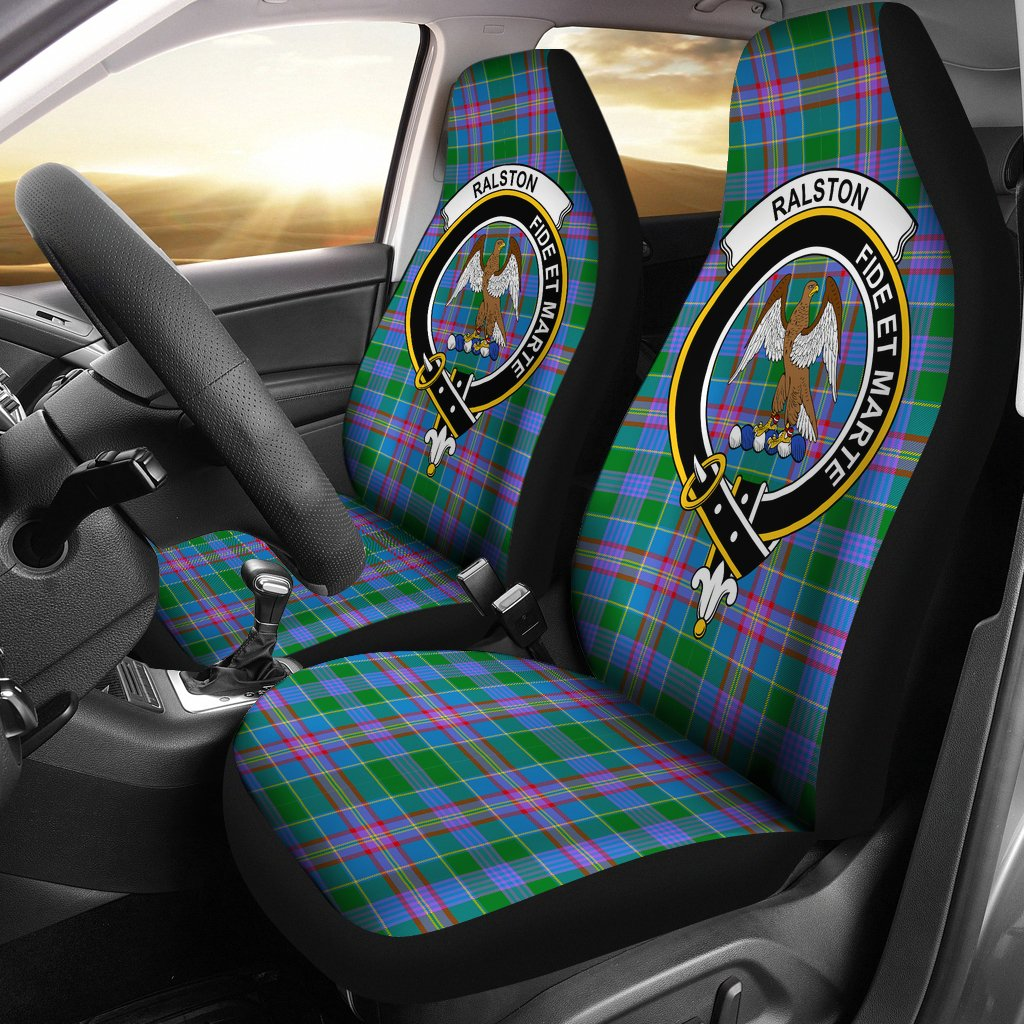 Ralston Clan Badge Tartan Car Seat Cover