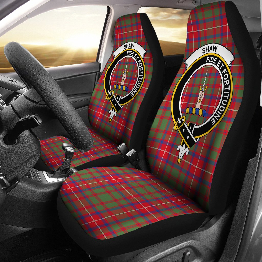 Shaw Red Clan Badge Tartan Car Seat Cover