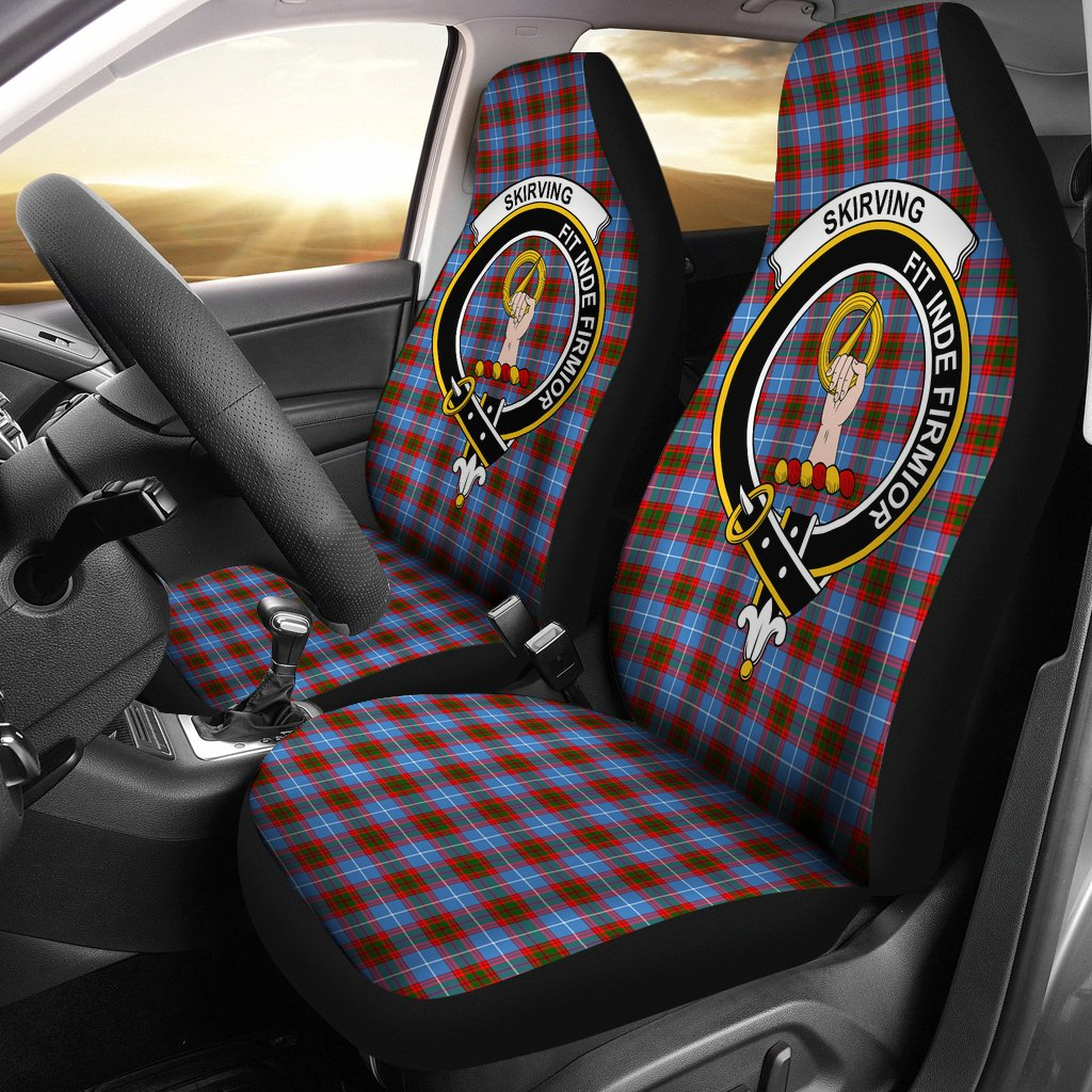 Skirving (Edingburg) Clan Badge Tartan Car Seat Cover