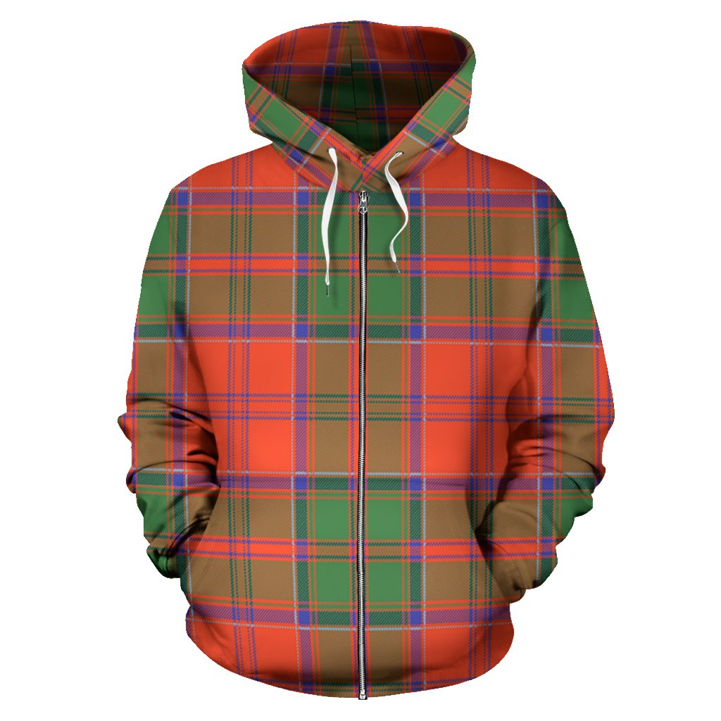 Grant Ancient Tartan All Over Zip Hoodie