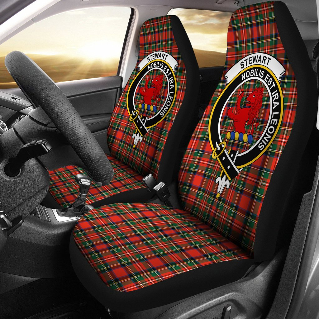 Stewart Royal Clan Badge Tartan Car Seat Cover