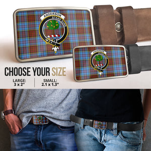 Anderson Modern Clan Badge Tartan Belt Buckle H01