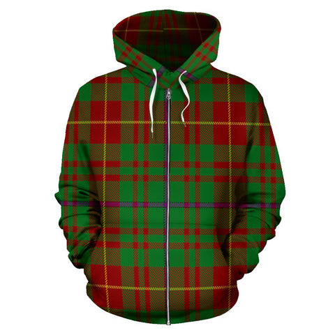 Fulton Tartan All Over Zip Hoodie