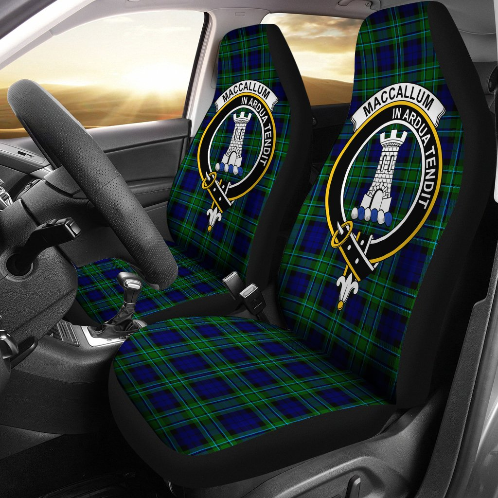 MacCallum Clan Badge Tartan Car Seat Cover