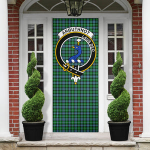Arbuthnott Clan Badge Tartan Door Sock H01