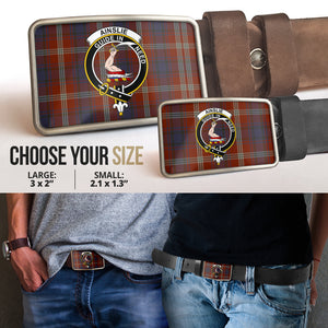 Ainslie Clan Badge Tartan Belt Buckle H01