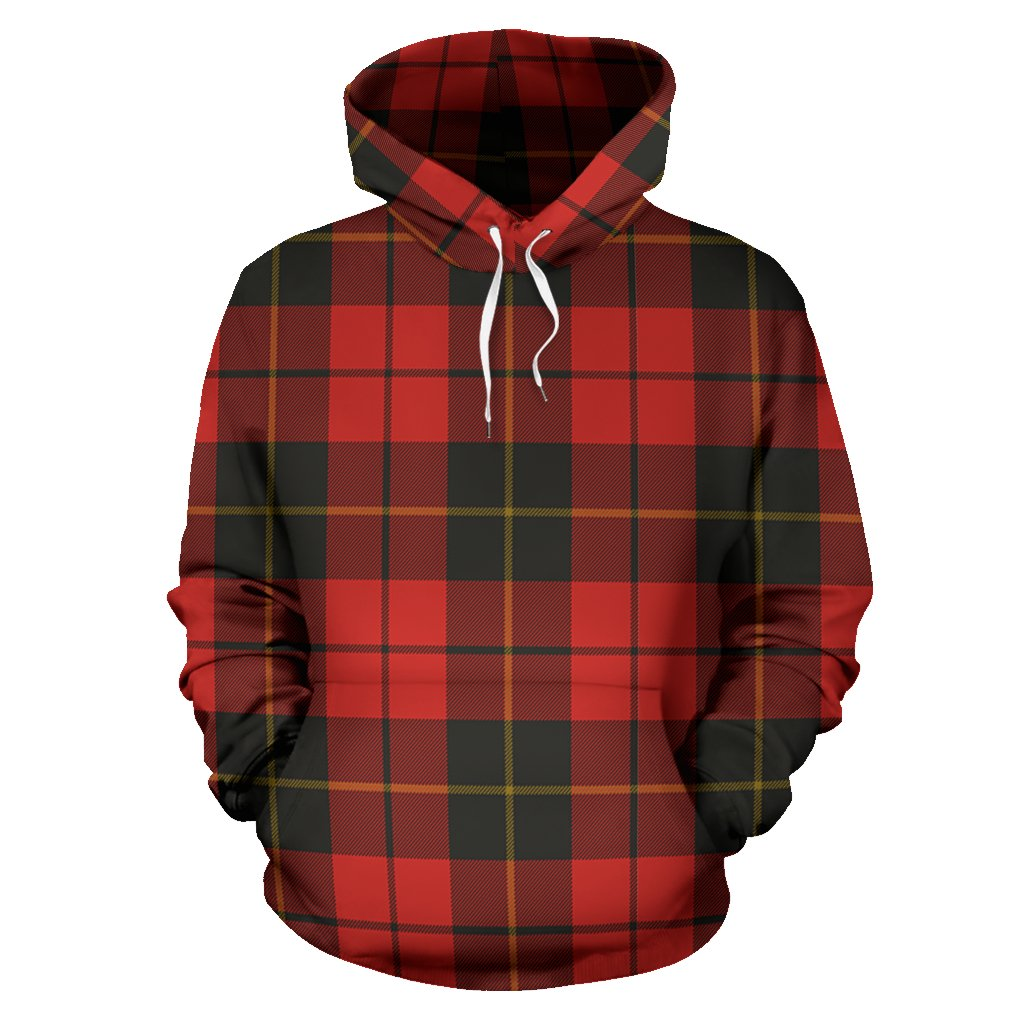 Wallace Weathered Tartan All Over Print Hoodie