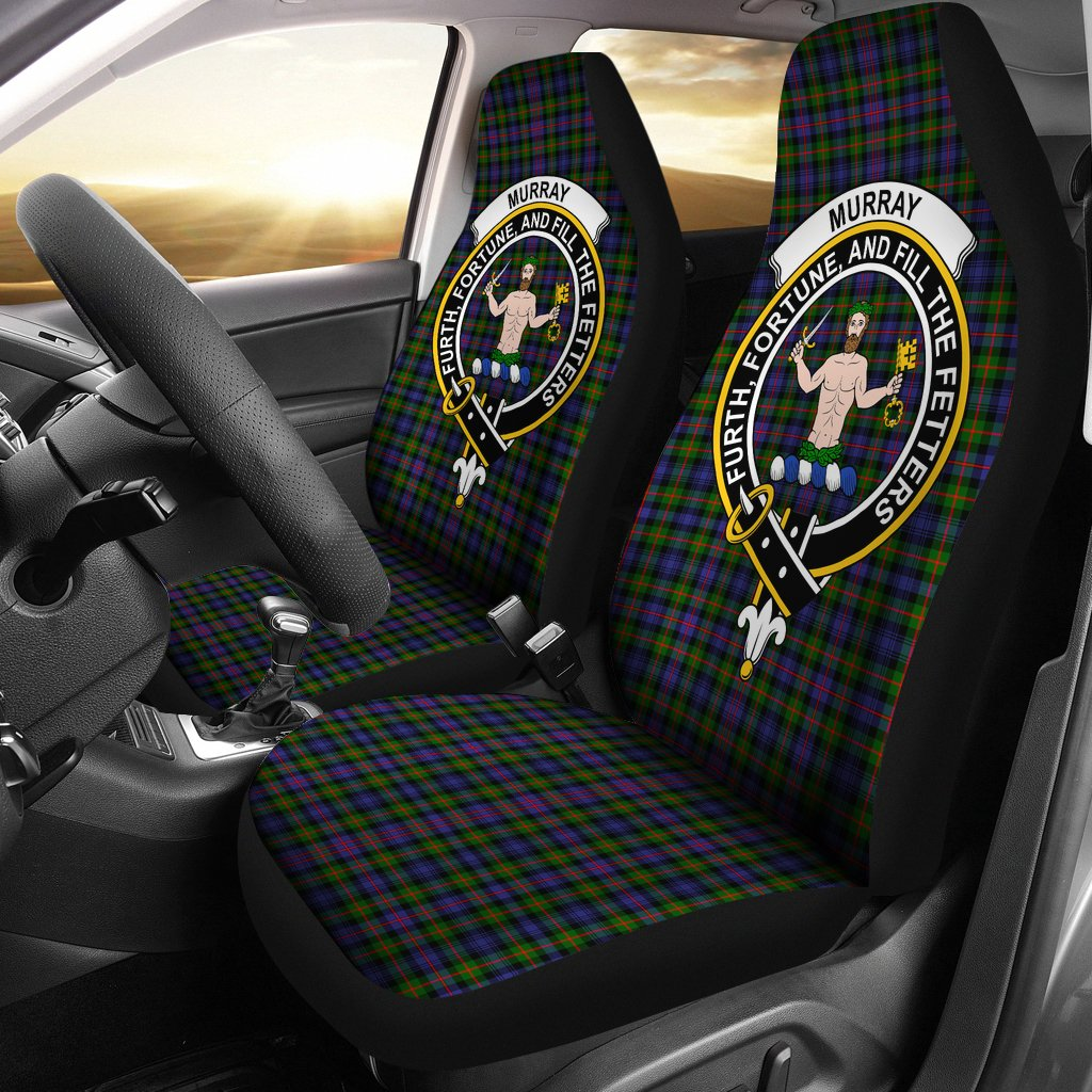 Murray of Atholl Clan Badge Tartan Car Seat Cover