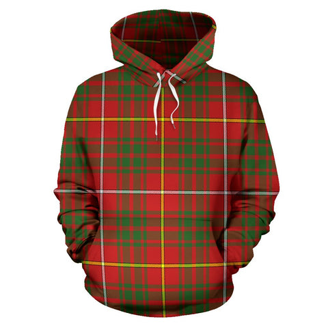 Image of Bruce Modern Tartan All Over Print Hoodie