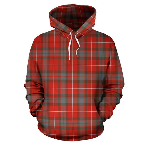 Image of Fraser Weathered Tartan All Over Print Hoodie