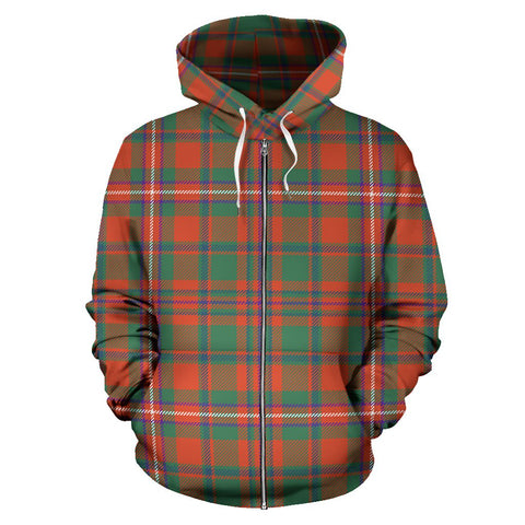 Image of MacKinnon Ancient Tartan All Over Zip Hoodie