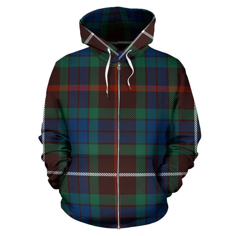 Image of Fraser Hunting Ancient Tartan All Over Zip Hoodie