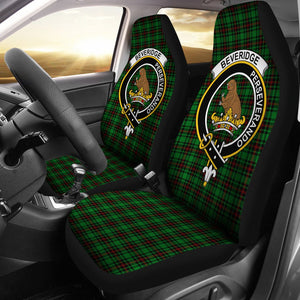 Beveridge Clan Badge Tartan Car Seat Cover