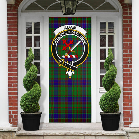 Adam Clan Badge Tartan Door Sock H01