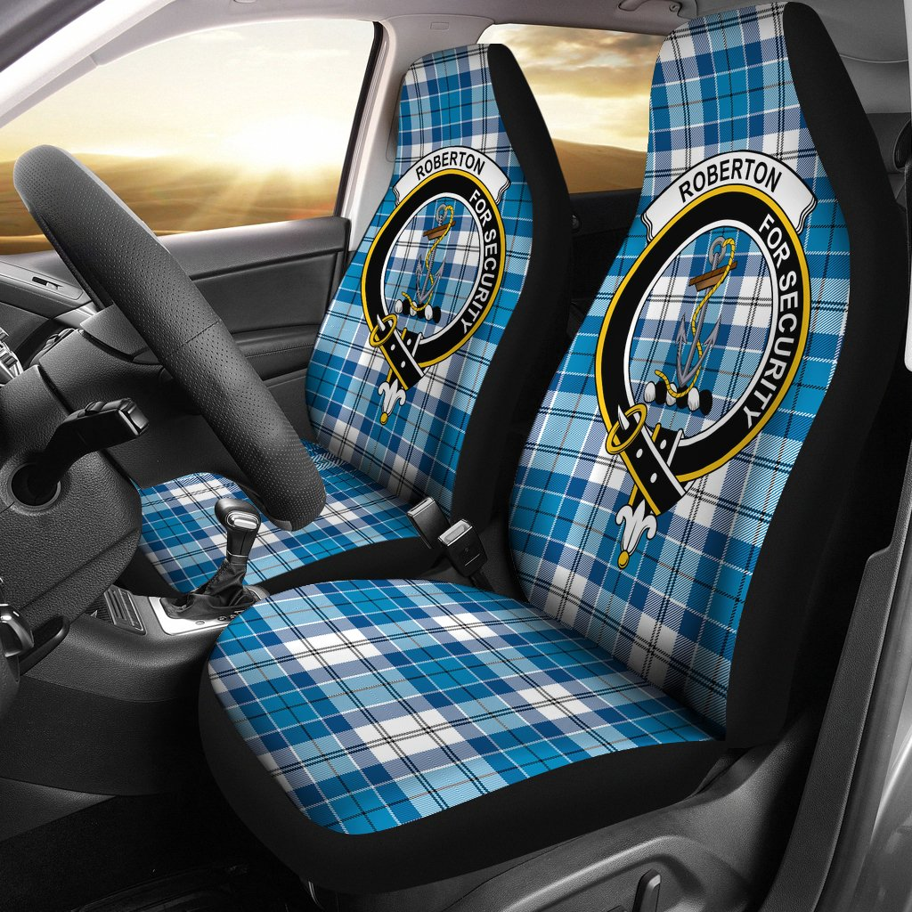 Roberton Clan Badge Tartan Car Seat Cover