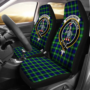 Bannerman Clan Badge Tartan Car Seat Cover