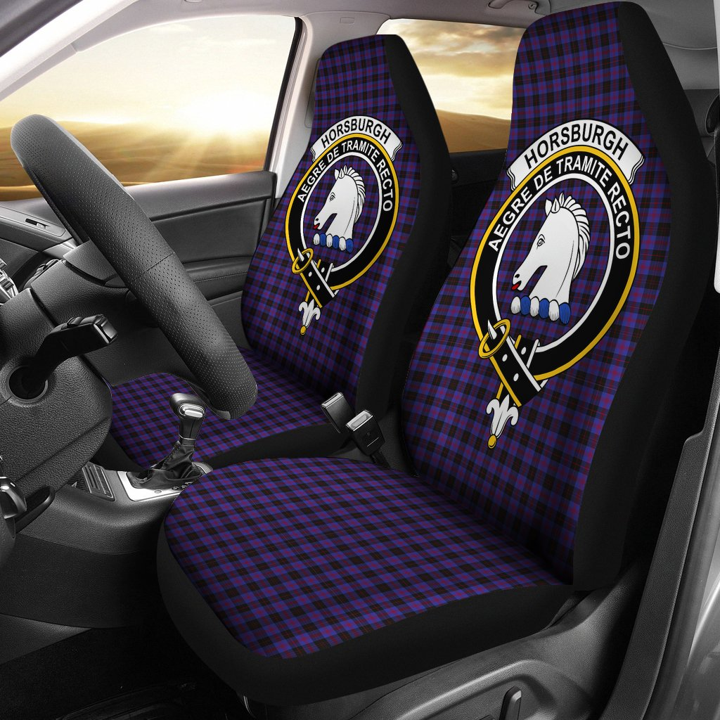 Horsburgh Clan Badge Tartan Car Seat Cover