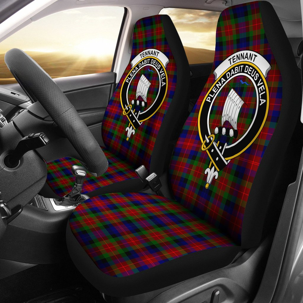 Tennant Clan Badge Tartan Car Seat Cover
