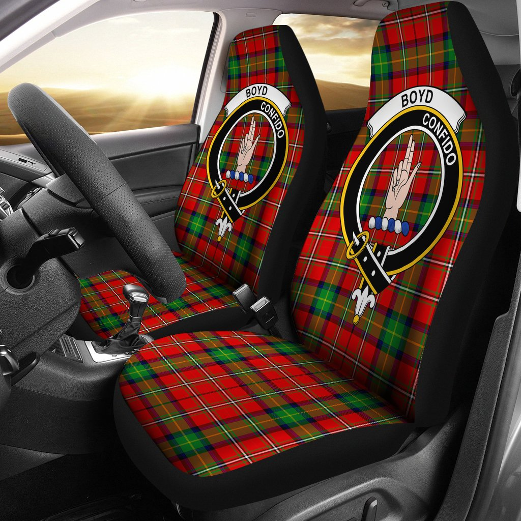 Boyd  Clan Badge Tartan Car Seat Cover